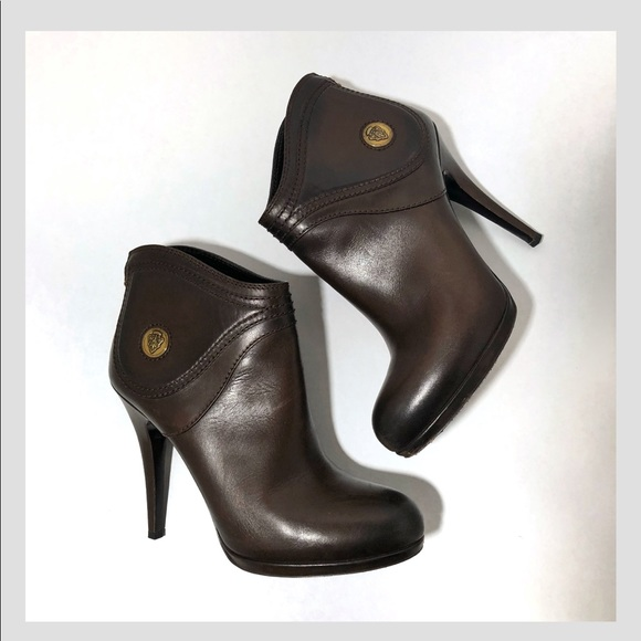 """08485d7bbda Gucci Shoes - Gucci """"Diana"""" 206776 Chocolate Ankle Boots-7.5 B"""